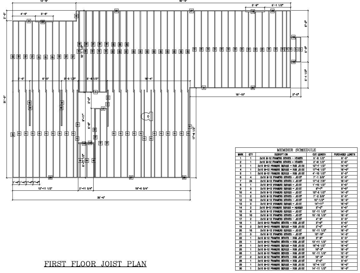 Rim Joist In Floor Framing Schedule Softplan 2016