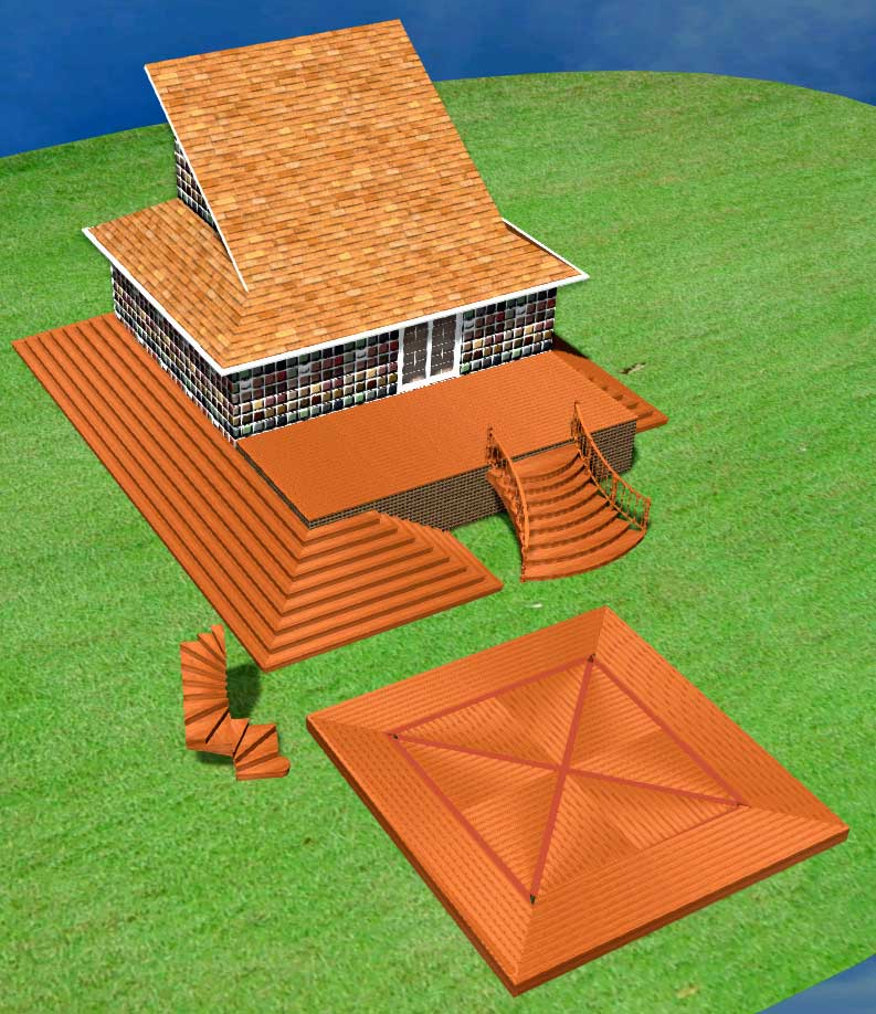Stair Styles: Stair Styles And Deck Surface Design