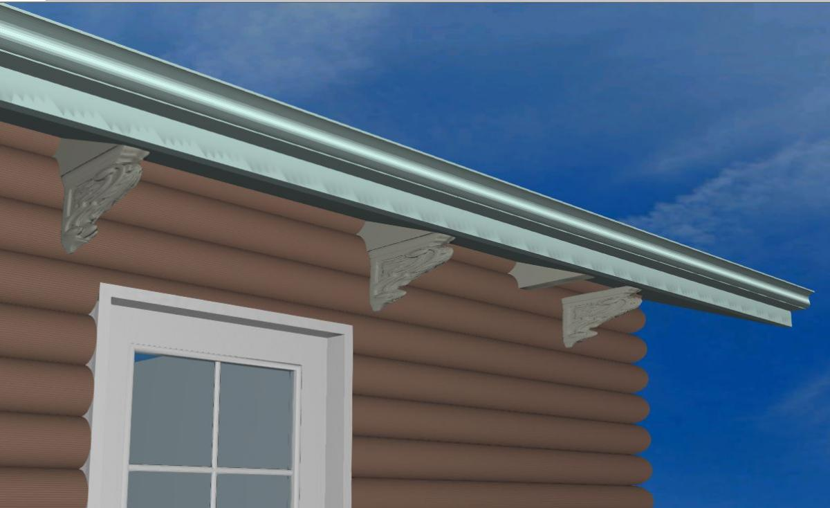 Corbel For A Raked Roof Soffit General Questions