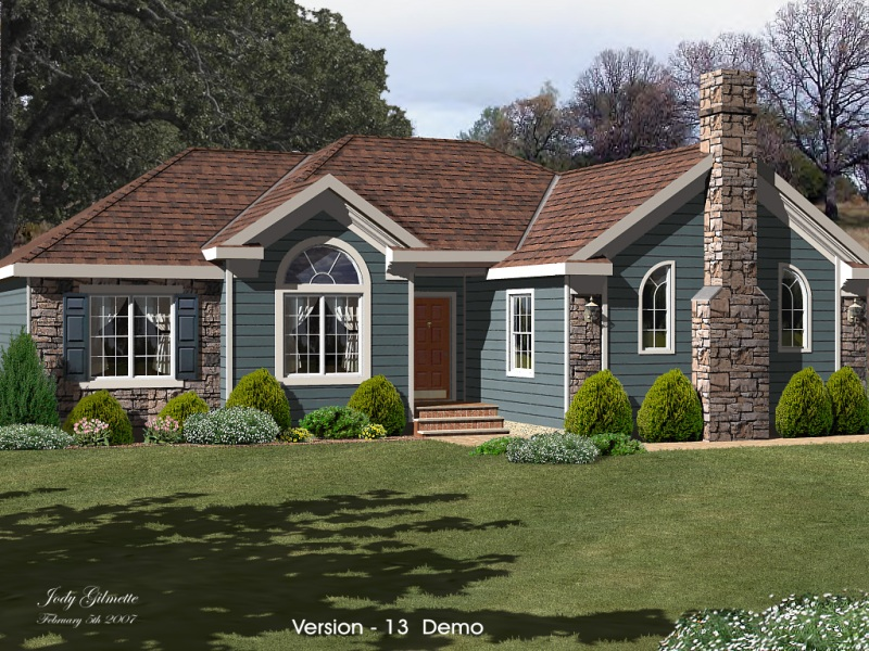 Softplan home design software softplan gallery for Ranch homes with vinyl siding